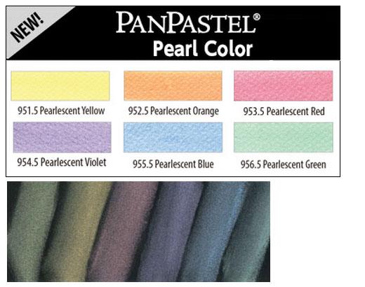 ホルベイン パンパステル パールカラー 6色
