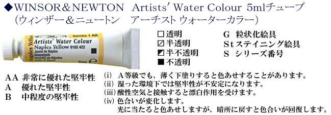 ウィンザー&ニュートン 水彩絵具 5mlチューブ